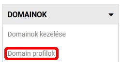 domain profilok menü hostithu
