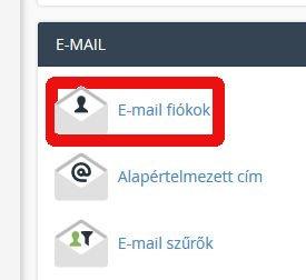 hostit-hu cpanel email fiókok menü