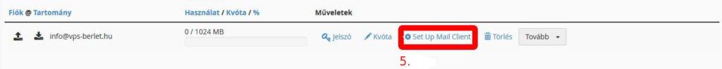hostit.hu cpanel e-mail kliens beállítás menüpont