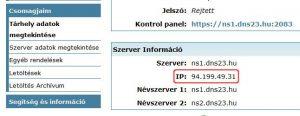 hostit.hu, webtárhely ip cím megtekintés