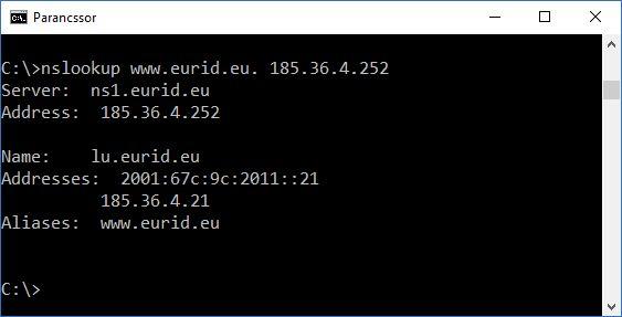 nslookup www.eurid.eu