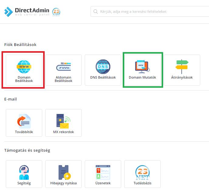 Hogyan tudom beállítani domainemet DirectAdmin webtárhelyemhez?