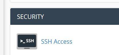 Cpanel SSH kulcs generálás és kapcsolódás WinSCPvel